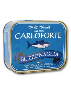 Buzzonaglia di tonno rosso di Carloforte in olio di oliva - 350 g