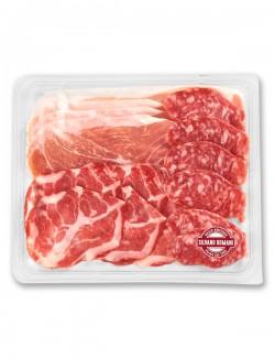 Tris prosciutto crudo, coppa, salame 120 g ca.