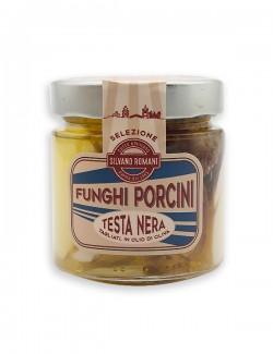 Sliced black head Porcini mushrooms in oil