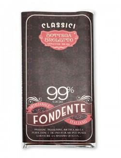 Bar of dark chocolate 99%