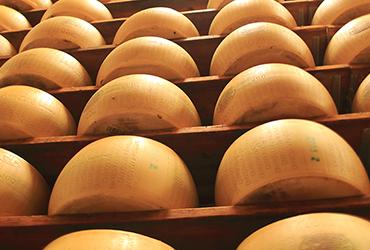 Seasoning of Parmigiano Reggiano